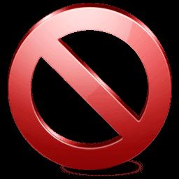 Symbole 'interdit'